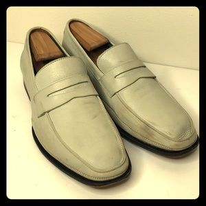 Johnston & Murphy men's white Penny loafers 8 M